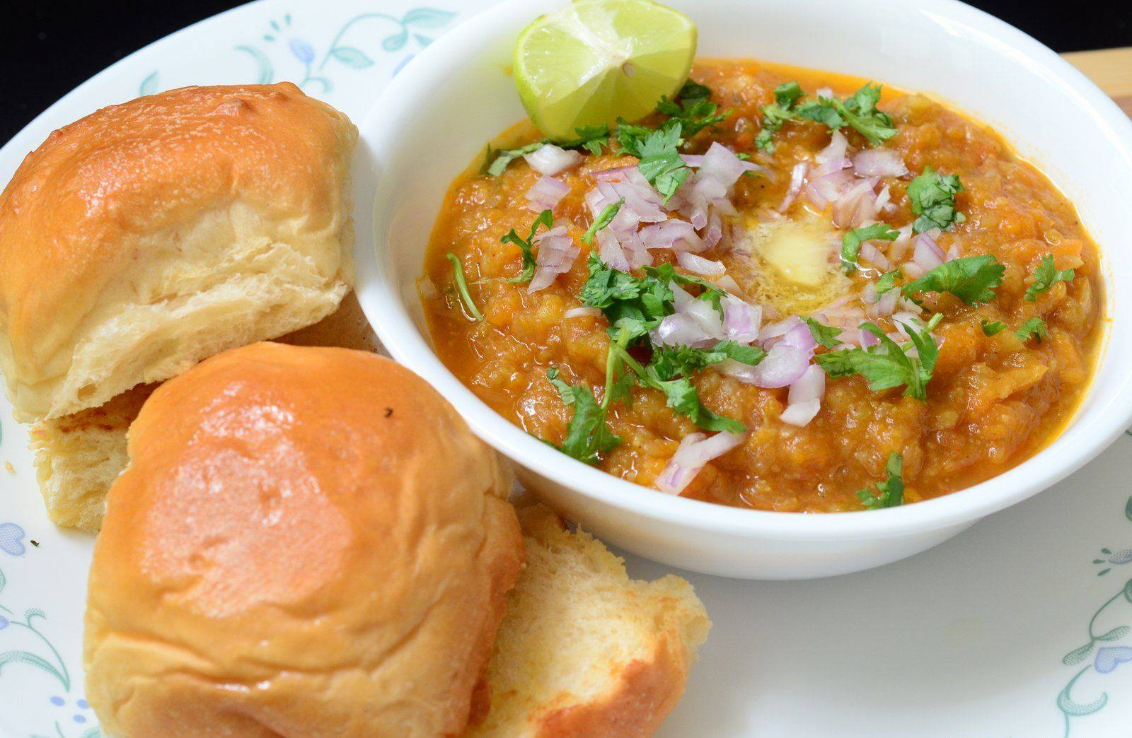Pav Bhaji a Snack from Mumbai