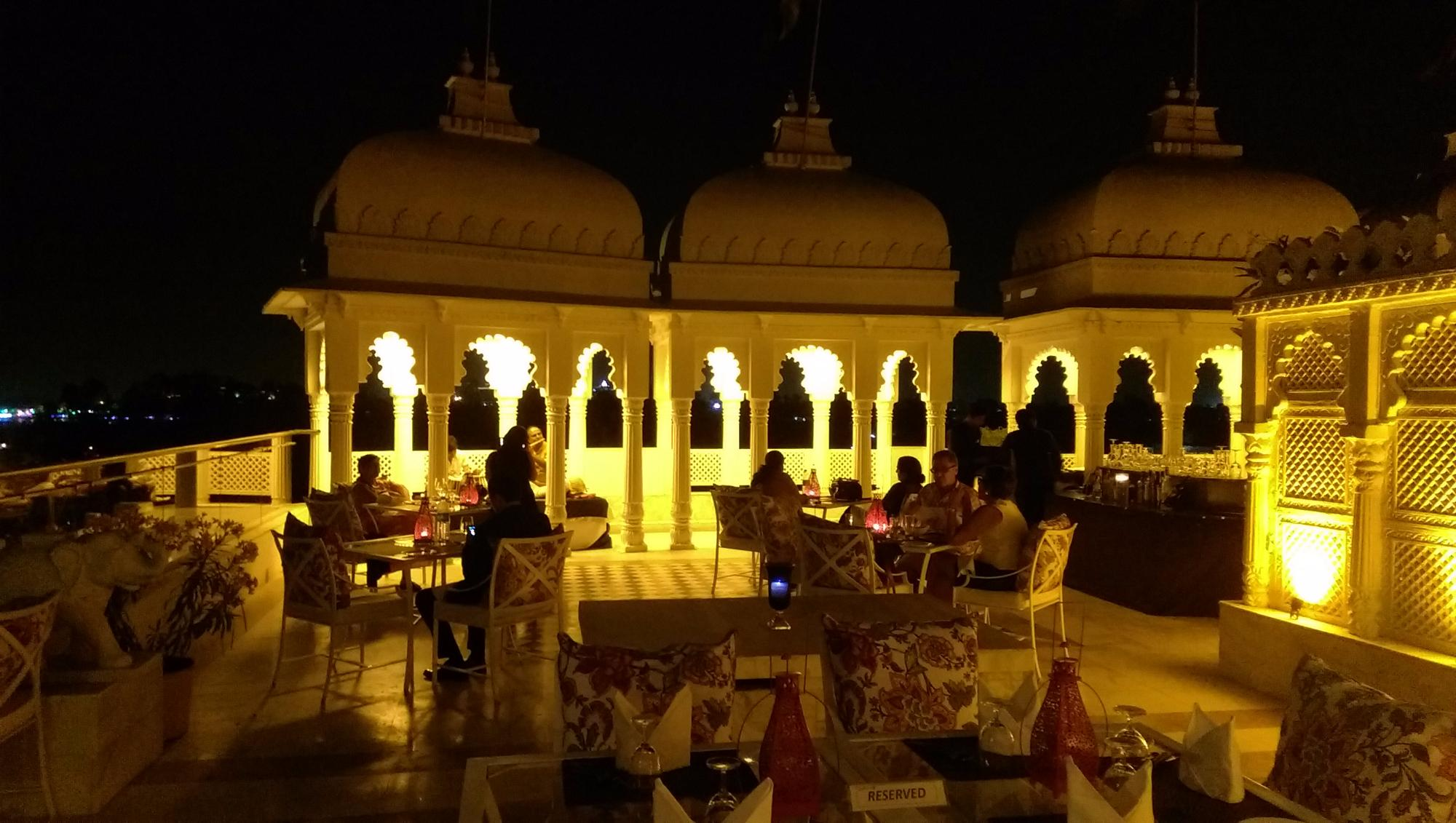 Aravali Lake view Restaurant of Udaipur