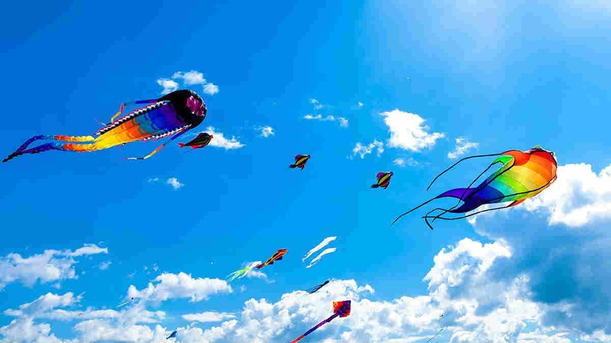 Kite festival in India